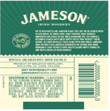 jameson caskmates ipa back